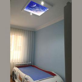 Hayal Penceresi Gergi Avize Hazır Gergi Tavan Avize 80x68 cm Ücretsiz Kargo