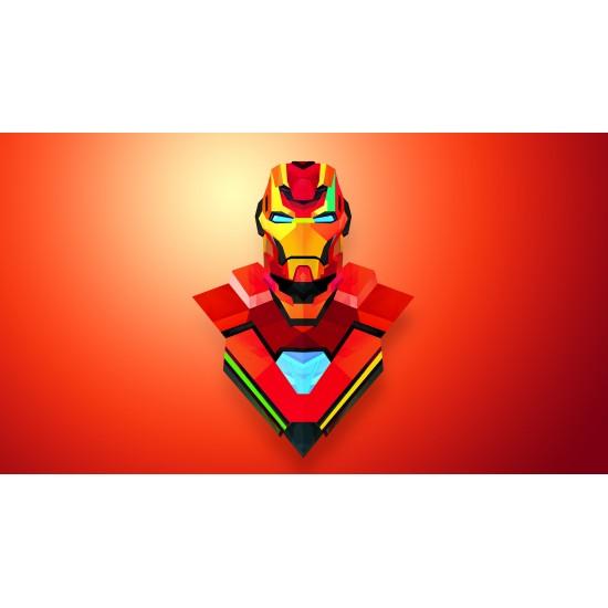 Iron Man Gergi Avize L Hazır Gergi Tavan 109x80 CM Hayal Penceresi