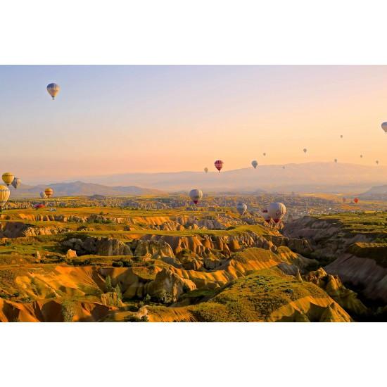 Sıcak Hava Balonu Gergi Avize L Hazır Gergi Tavan 109x80 CM Hayal Penceresi
