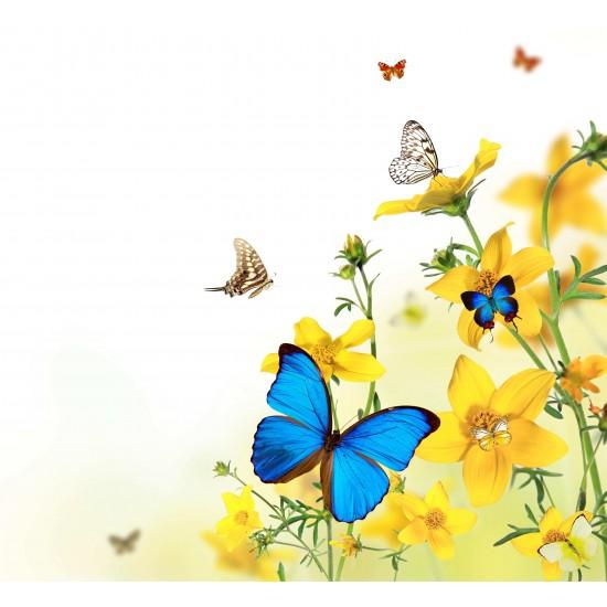 Kelebekler Gergi Avize 109x80 Hayal Penceresi Hazır Gergi Tavan
