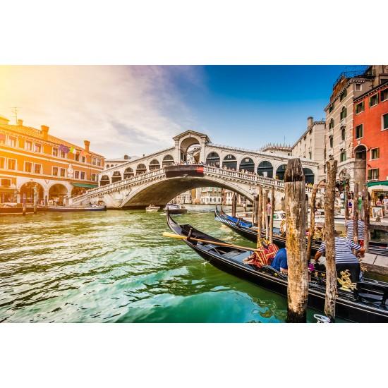 Venedik ve Gondol Gergi Avize 80x68 Hayal Penceresi Hazır Gergi Tavan