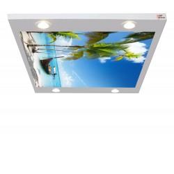 Ada ve Kayık Gergi Avize 109x80 Hayal Penceresi Hazır Gergi Tavan