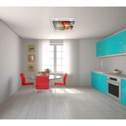 Ağgül ve Elma Gergi Avize 109x80 Hayal Penceresi Hazır Gergi Tavan