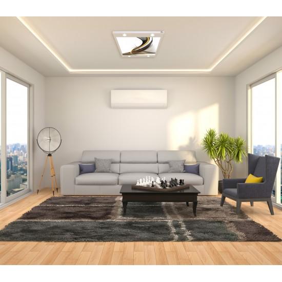 Desenli Gergi Avize 109x80 Hayal Penceresi Hazır Gergi Tavan