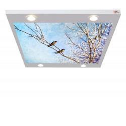 Ağaçtaki Kuşlar Gergi Avize 109x80 Hayal Penceresi Hazır Gergi Tavan