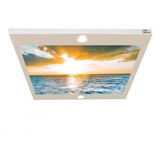 Güneş, Deniz ve Bulut Gergi Avize 80x68CM Hayal Penceresi Hazır Gergi Tavan