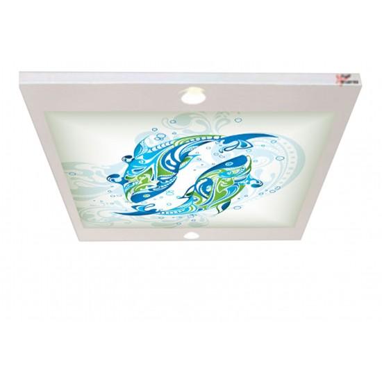 Balık Desenli Gergi Avize 80x68CM Hayal Penceresi Hazır Gergi Tavan