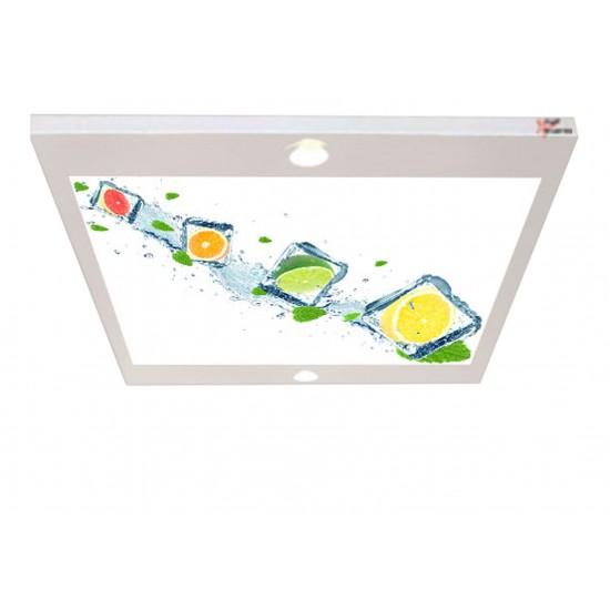 Buzlu Meyveler Gergi Avize 80x68 Hayal Penceresi Hazır Gergi Tavan