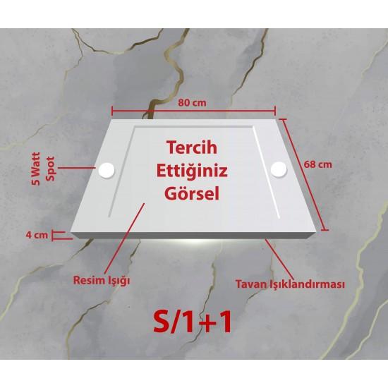 Şelale ve Göl Gergi Avize 80x68 Hayal Penceresi Hazır Gergi Tavan
